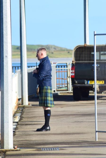 Kilted security guard