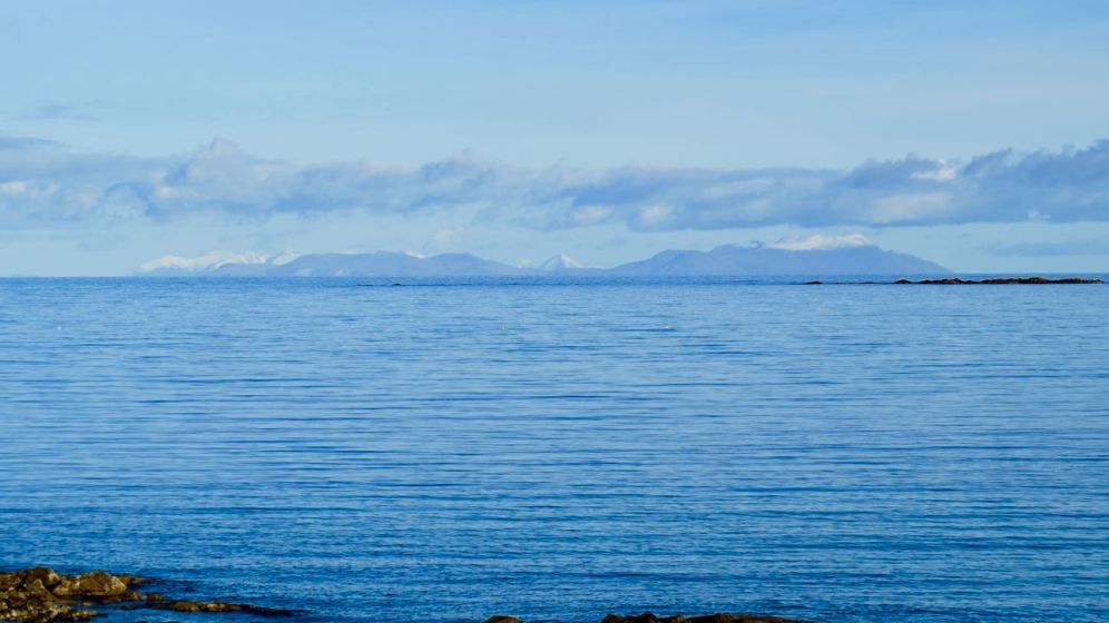 Isle of Rum and more distant peaks from Balephetrish Bay