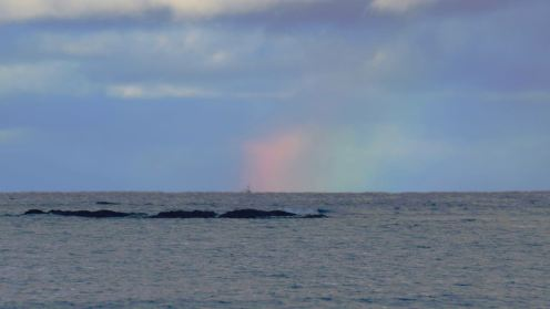 Rainbow out to sea