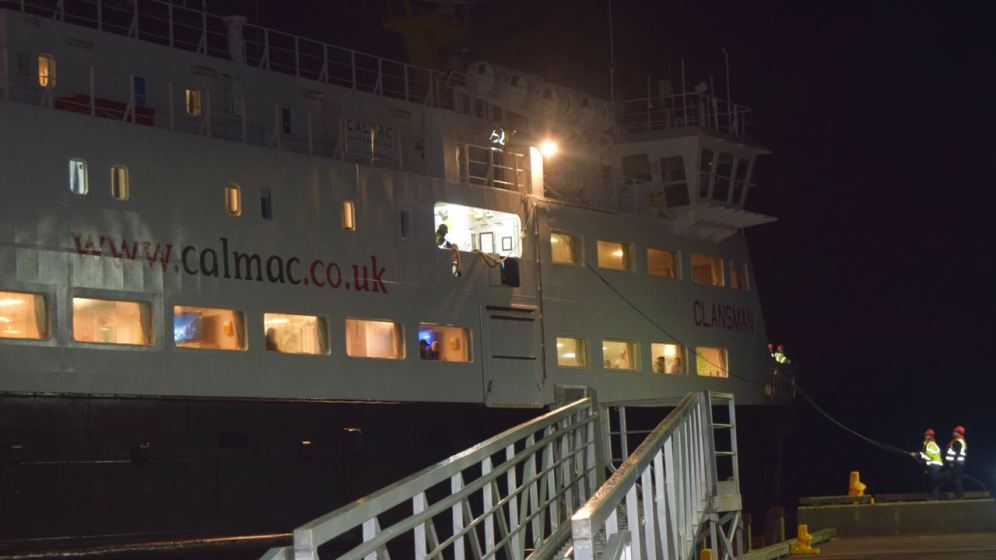 The arrival of the MV Clansman