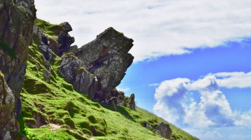Rocky outcrop and crags