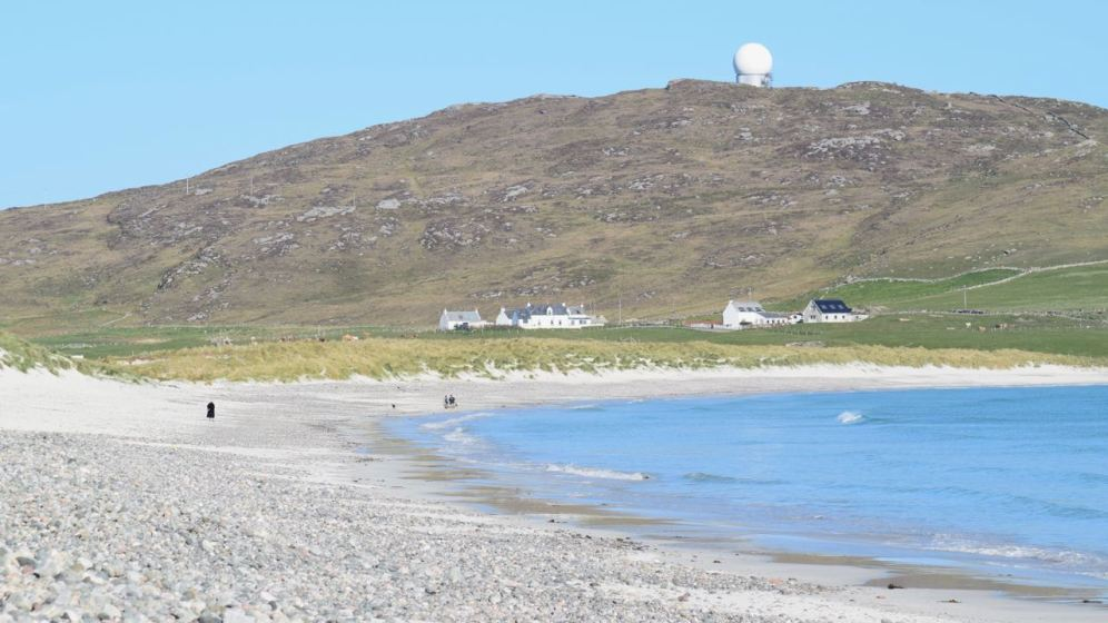 Looking back to Ben Hynish from Balephuil beach
