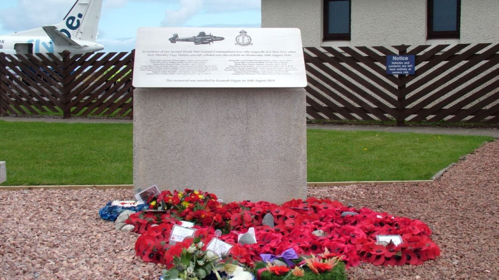 Memorial at Tiree Airport unveiled on 16th August 2014