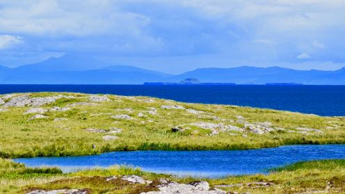 The Dutchman's Cap and the Isle of Mull from the Scarinish headland