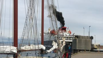 The Clansman's Clag and the furled sail