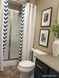 Guest Bathroom: No-Sew Shower Curtain Tutorial - Life On ...