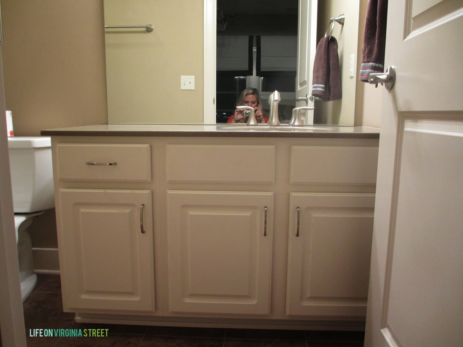Painted Bathroom Cabinets Bathroom Vanity Makeover W Country Chic Paint Life On Virginia