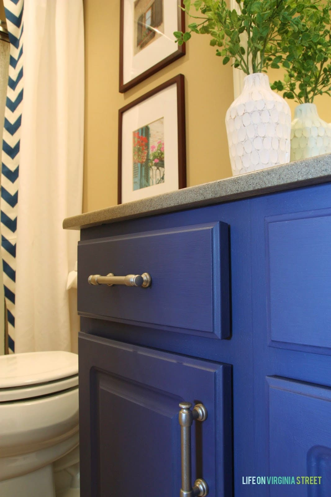 Painted Bathroom Vanity Bathroom Vanity Makeover W Country Chic Paint Life On