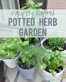 Diy Painted Potted Herb Garden - Life Virginia Street