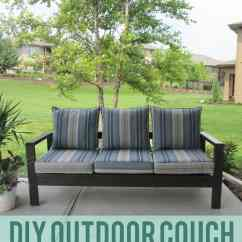 Diy Patio Sofa Plans Cleaning White Microfiber Outdoor Couch Life On Virginia Street