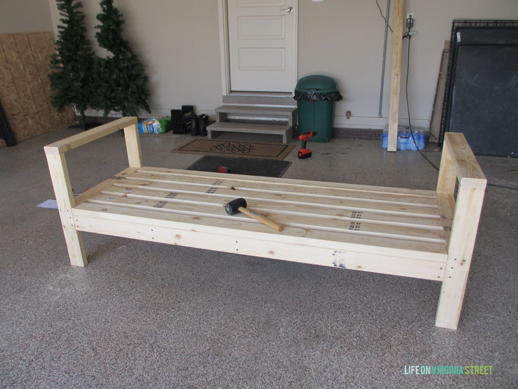 diy outdoor sofa table chair bed argos how to build a couch life on virginia street