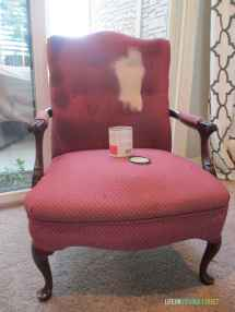 Diy Fabric Chair Makeover Project Painted & Wood