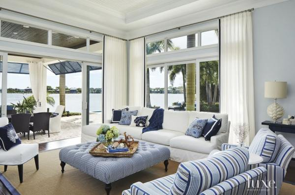 white and blue living room Wednesday Watch List - Life On Virginia Street