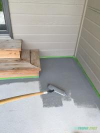 Painted Concrete Patio Makeover - Life On Virginia Street