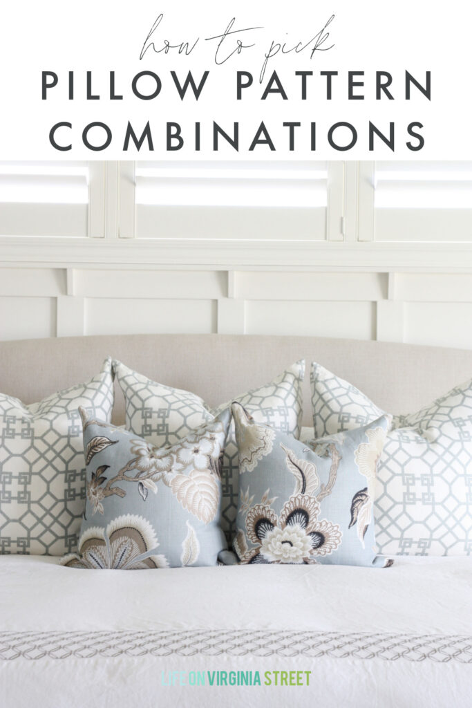 choose pillow pattern combinations