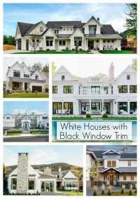 White Houses with Black Window Trim - Life On Virginia Street