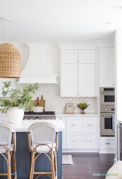 coastal kitchens with white cabinets Coastal Kitchen Reveal - Life On Virginia Street