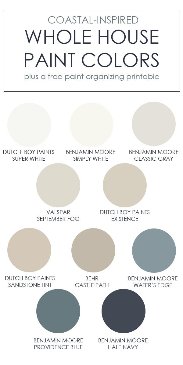 Dutch Boy Paint Color Chart : dutch, paint, color, chart, Whole, House, Paint, Colors, Printables, Virginia, Street