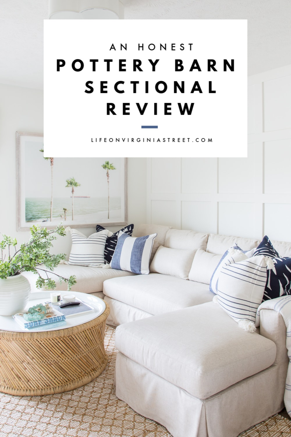 pottery barn sectional review life on