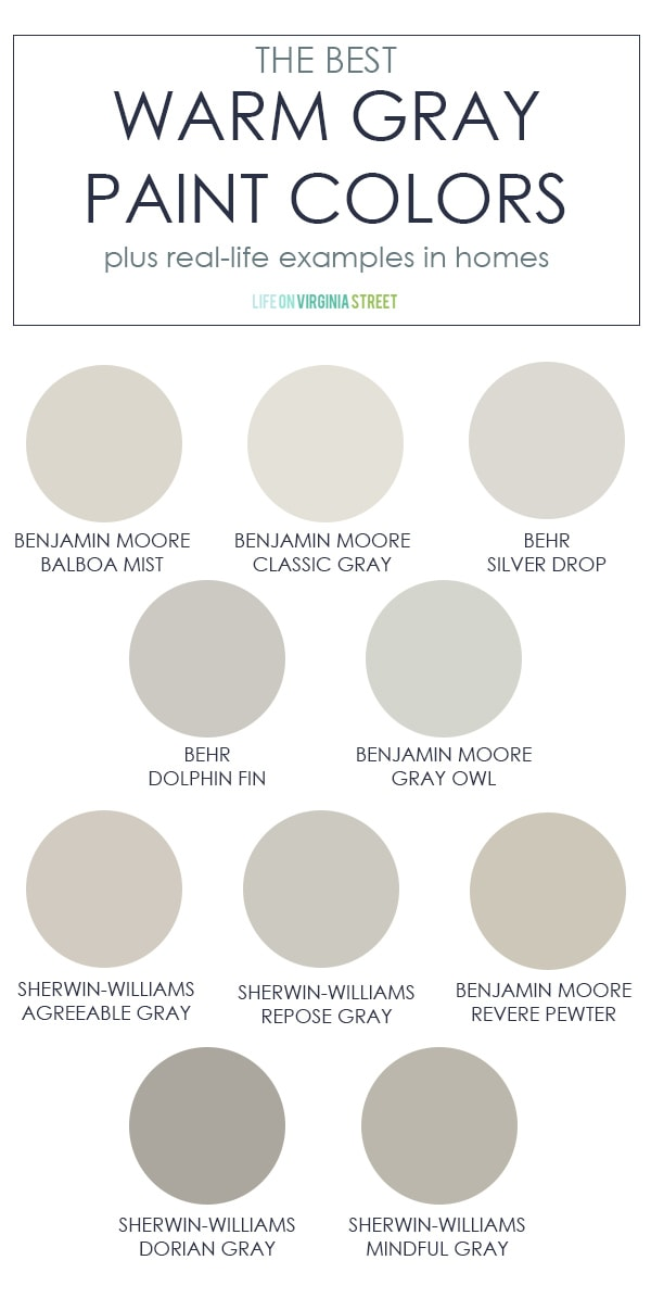 the best warm gray paint colors life