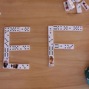 Five domino activities, shapes and letters by Life on Wallace