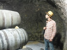 Barrels in cave..watch out for bats!