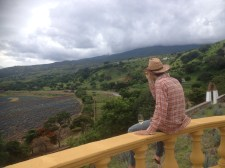 Looking out over the Fortaleza property