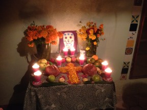 Lindsey and Edgar's family altar at their home