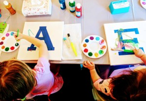 Toddler painting party fun