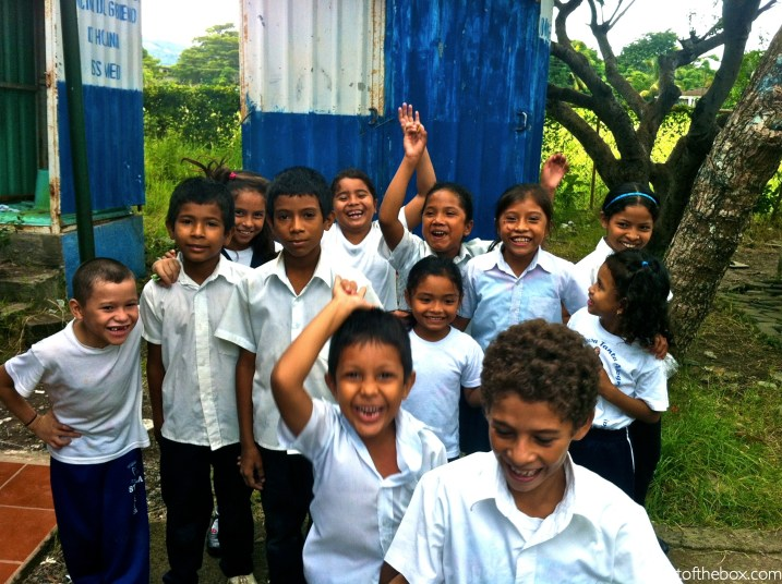A Nicaraguan Relay Race on the Playground at School