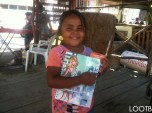 This little cutie got a school supplies kit just before school started in San Juan del Sur, Nicaragua