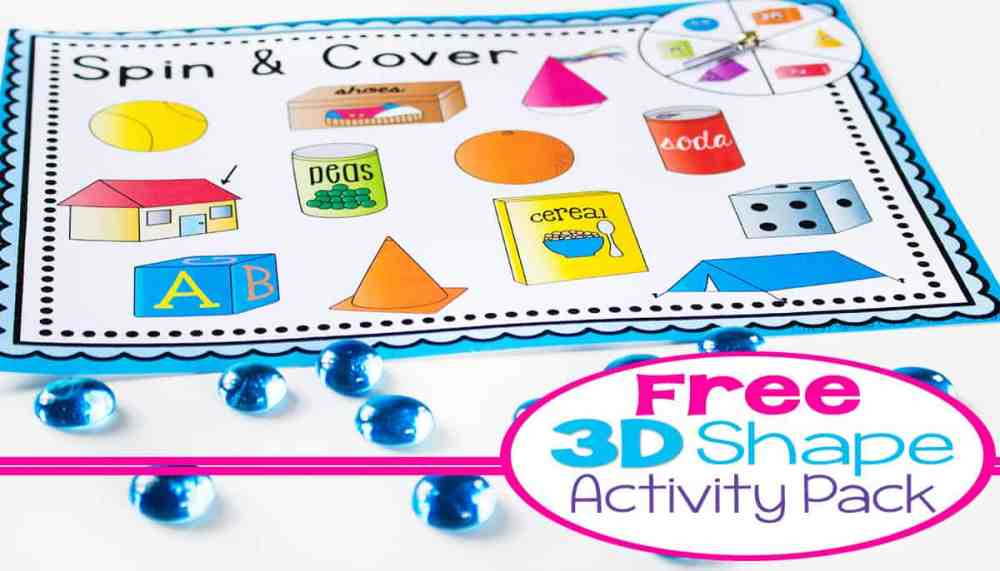 medium resolution of 3D Shapes Free Printable Activities -