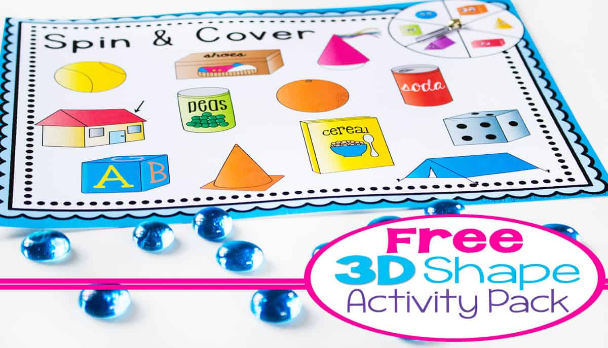 hight resolution of 3D Shapes Free Printable Activities -