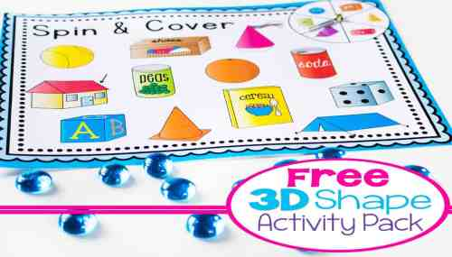 small resolution of 3D Shapes Free Printable Activities -