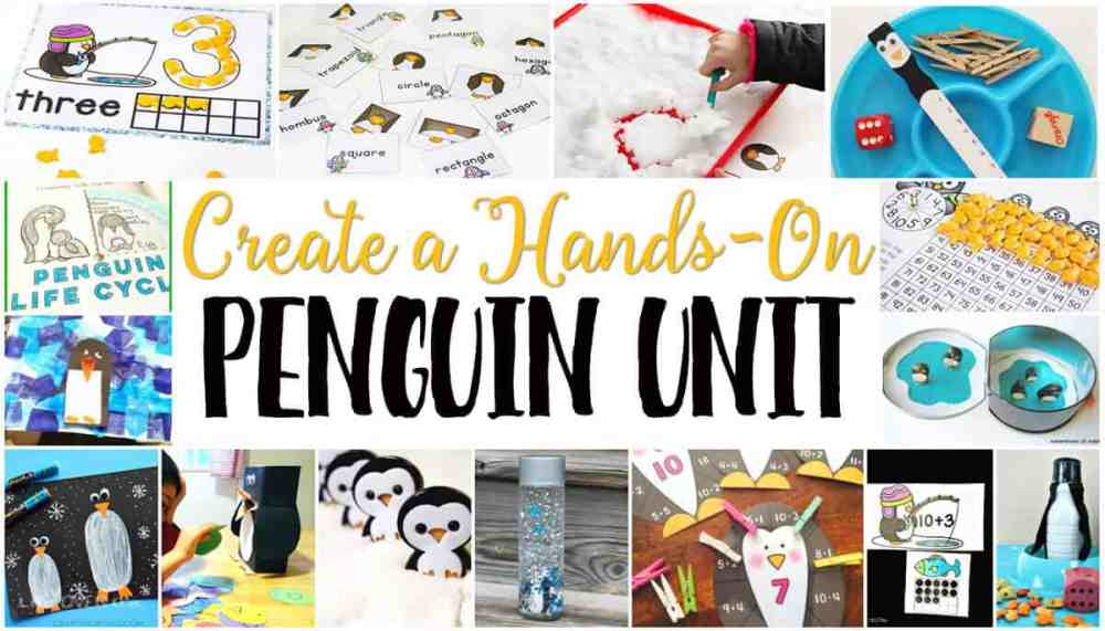 medium resolution of Free Penguin Theme Printables for Learning -