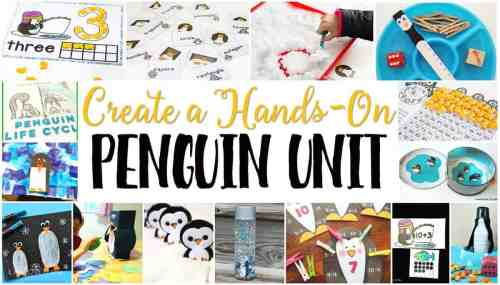 small resolution of Free Penguin Theme Printables for Learning -