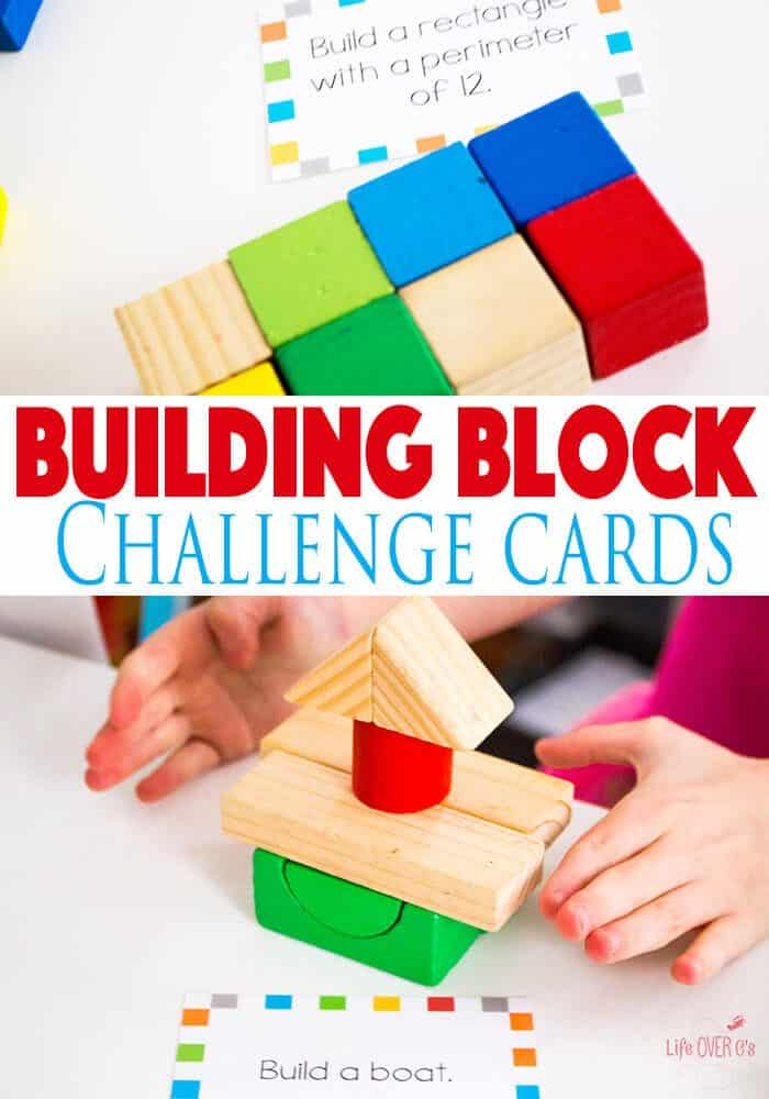 Building Block STEM Challenge Cards Life Over Cs