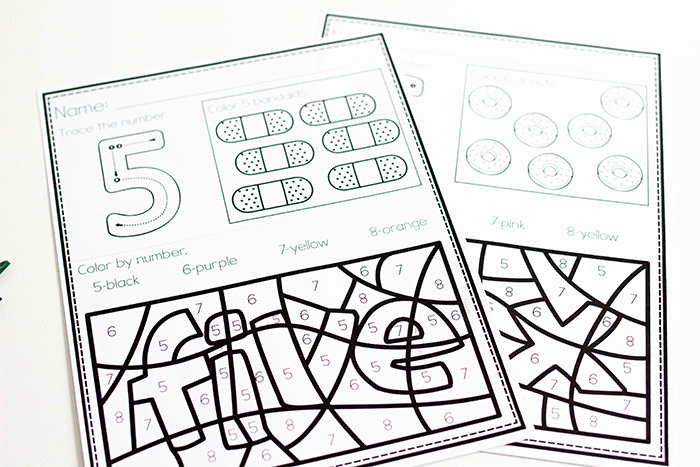 Free Color By Number Color Worksheets For 0 10