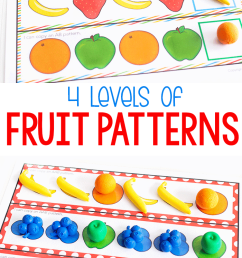 Free Printable Fruit Themed Pattern Activity - [ 1150 x 700 Pixel ]