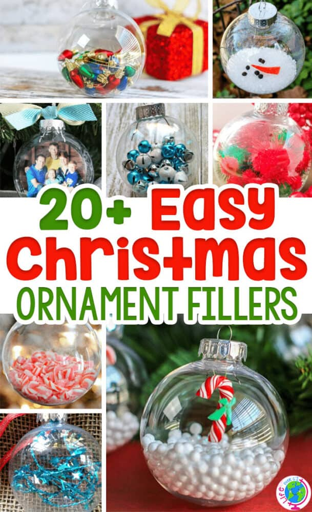 Simple Ideas For Filling Clear Ball Christmas Ornaments