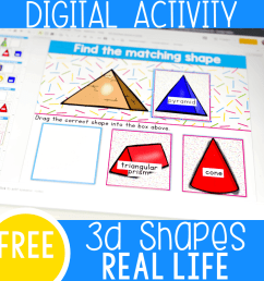 3D Shapes Kindergarten Activities with Real World Objects - [ 1000 x 1000 Pixel ]