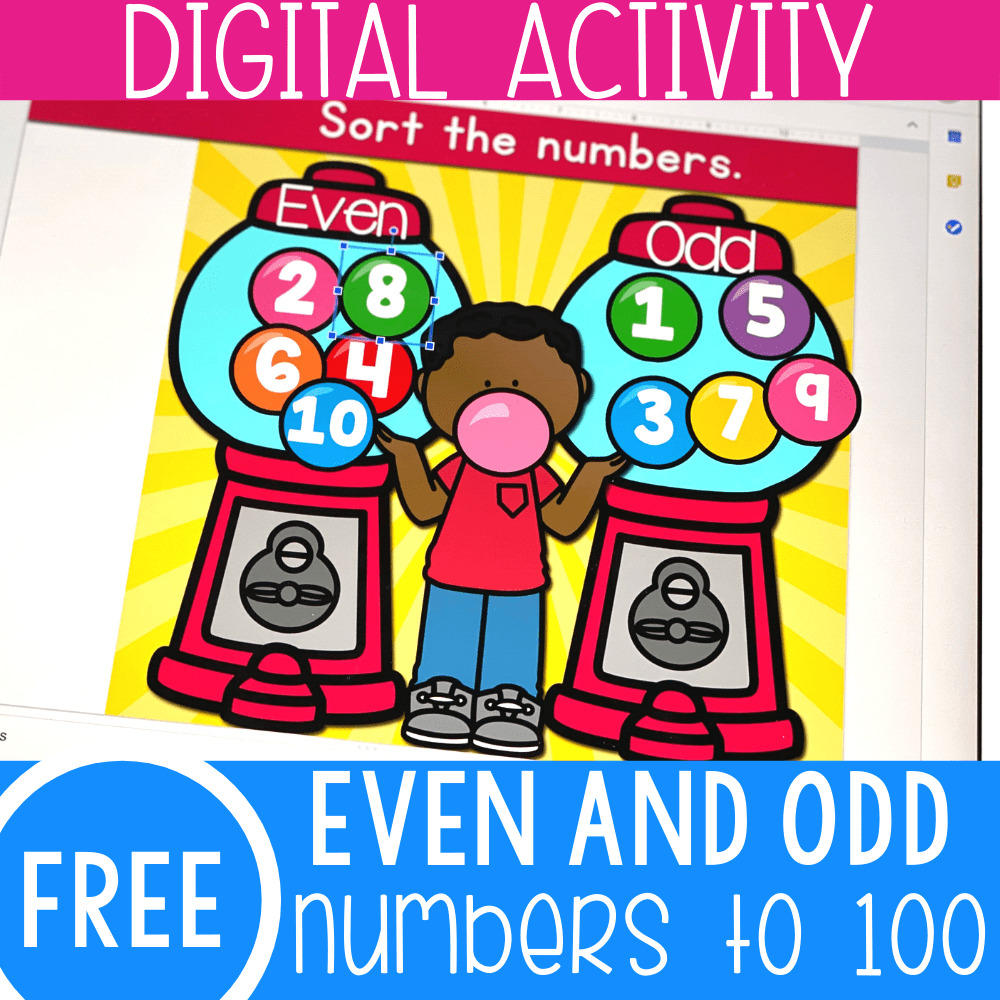 medium resolution of Gumballs Even and Odd Numbers Math Activity -
