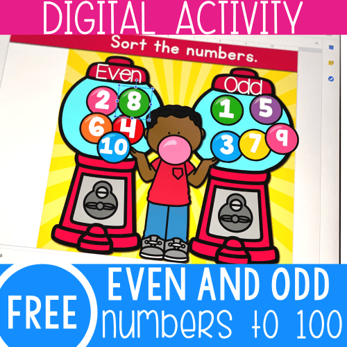 small resolution of Gumballs Even and Odd Numbers Math Activity -