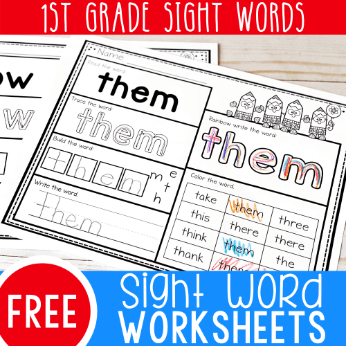 small resolution of Free Printable First Grade Sight Words Worksheets -
