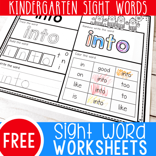 small resolution of Free Printable Kindergarten Sight Words Worksheets -