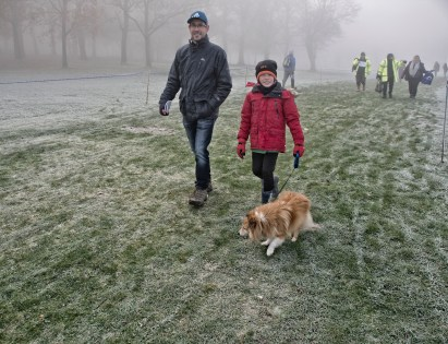 Walking the course