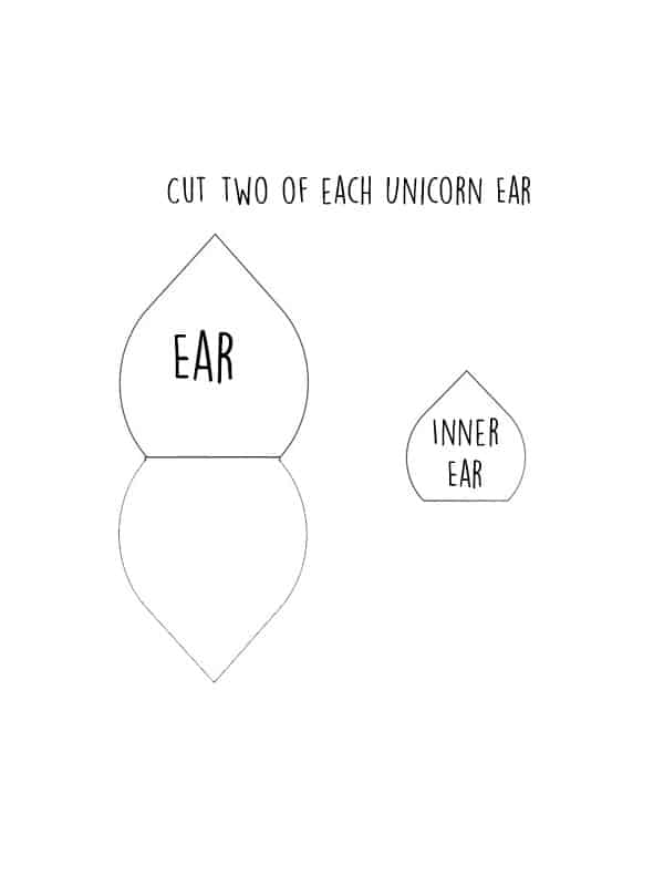 photograph relating to Unicorn Ears Printable known as Unicorn Ears Template Printable - Floss Papers