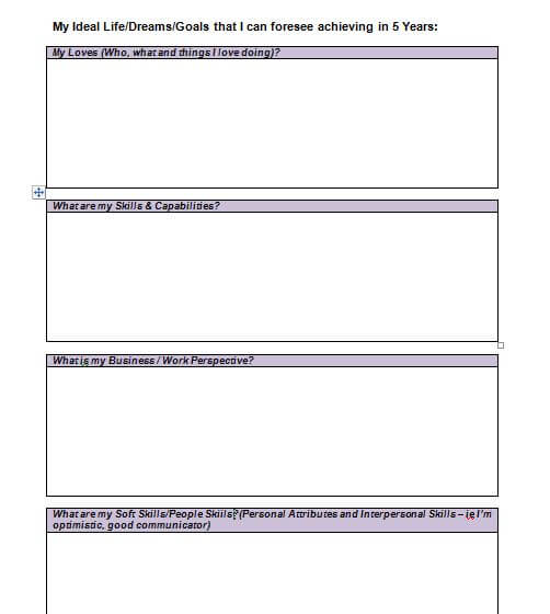 Free Life Plan Template and Goal Setting Planner | Yearly ...