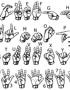 Asl gallaudet type font also sign language rh lifeprint