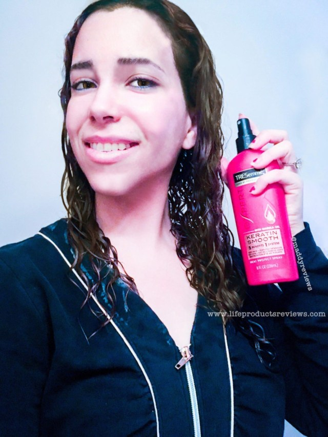 number one Tressame keratin heat protect defense spray